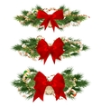 Delicate Christmas ornaments EPS 10 vector image