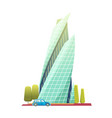 downtown skyscrapers with shiny glass facades vector image vector image