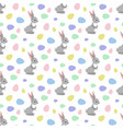 easter bunny seamless pattern vector image vector image