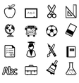 Education Icons black vector image