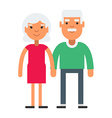 Elderly cute couple with gray hair