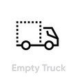 empty truck delivery icon editable line vector image vector image