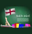 flag of england on black chalkboard background