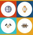flat icon oneday set of boardroom watch vector image vector image