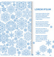 flat poster or banner template with snowflakes vector image vector image