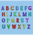 font colored hand drawn alphabet vector image vector image