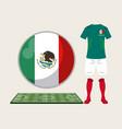 football mexico sport wear vector image vector image