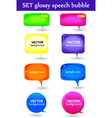 Glossy speech bubble vector image vector image