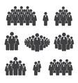 group of businessman figures concept on white vector image