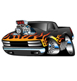Hot Rod Pickup Truck vector image vector image