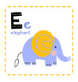 letter e funny alphabet for young children vector image vector image