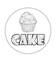 logo sign style for the confectionery bakery vector image