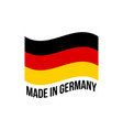 made in germany wavy icon with german flag vector image vector image