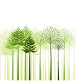 mixed forest vector image vector image