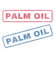 Palm oil textile stamps
