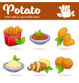 potato cartoon asset for your app or mobile game vector image