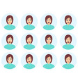 set womans emotions cute brunette vector image