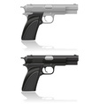 Silver and black automatic pistol vector | Price: 1 Credit (USD $1)