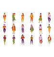 stylish fashionable people set men and women vector image