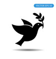 symbol of peace bird icon ep vector image