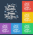 text on colour background merry christmas vector image vector image