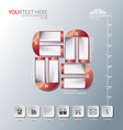 Magnet of Abstract business infographic background vector image
