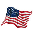 american pride usa flag waving vector image
