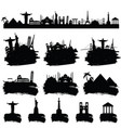ancient famous world monument in black color vector image vector image