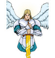 archangel michael portrait 2 vector image
