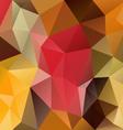 autumn polygon triangular pattern background vector image vector image