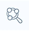 Baby rattle sketch icon vector image vector image