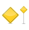 Blank Traffic Sign isolated on white background vector image vector image