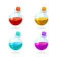 Bottles of potion icons for games vector image vector image