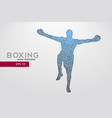 boxer from triangles vector image vector image