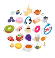 brekker icons set isometric style vector image vector image