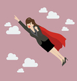 Business woman super hero vector image