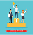 businessman and businesswoman character standing vector image