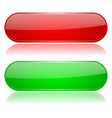 colored oval buttons 3d glass menu icons red and vector image vector image