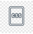 css concept linear icon isolated on transparent vector image