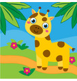 cute giraffe in african forest for vector image vector image