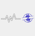dot pulse signal icon and distress 19 vector image vector image