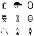 explorers icon set vector image