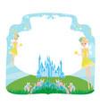 fairytale frame with little fairies vector image vector image