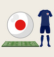 football japan sport wear vector image