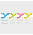 Four step infographic long up arrow Flat vector image vector image
