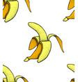 fruit menu banana hand-drawn vector image