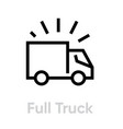 full truck delivery icon editable line vector image vector image