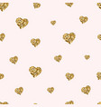 gold glitter hearts seamless pattern golden vector image vector image