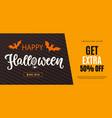 happy halloween sale web banner template vector image vector image