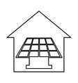 house exterior with panel solar isolated icon vector image vector image